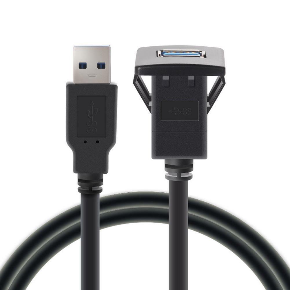 USB 3.0 Einbau Buchse Adapter Anschluss Verlängerung Kabel KFZ Auto MP3 PC 1m DE