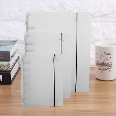 A5/A6/A7 White Loose Leaf Ring Binder Waterproof Notebook Planner Diary Cover gl