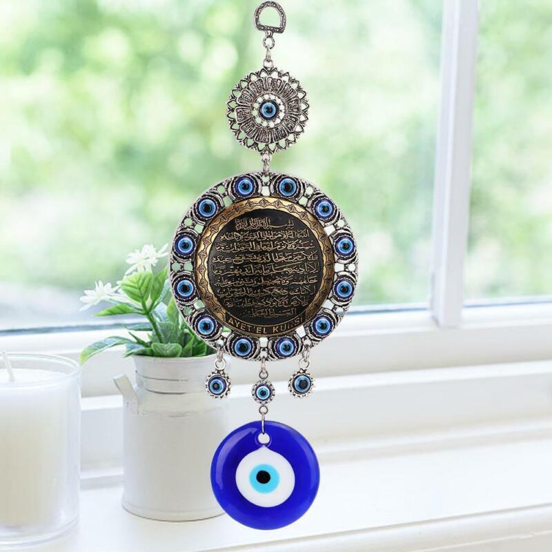 Islamic Turkish Blue Evil Eye Blessing Amulet Wall Hanging Pendant Muslim Decor