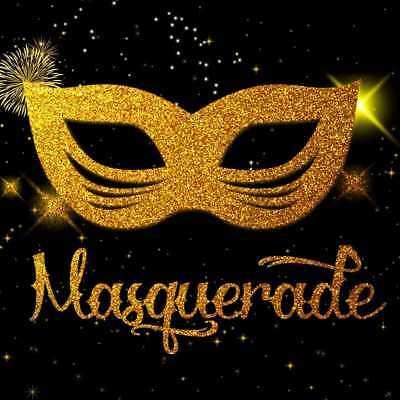 Masquerade Mask Gold CP Photography Backdrop Printed Background HXB-198 - Masquerade Backdrop