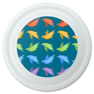 Flock of Rainbow Birds Flying in Pattern Novelty 9