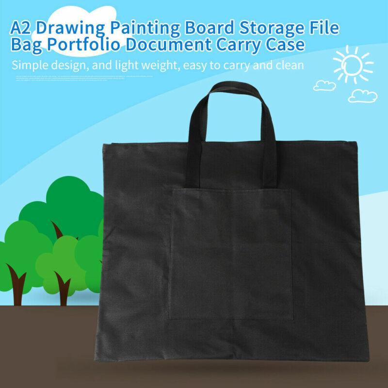 A2 Portfolio Waterproof Document Carry Case Art Work Painting File Folder Bag US