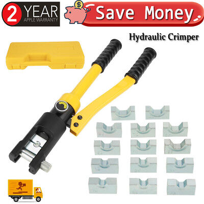 10 Ton Hydraulic Wire Terminal Crimper Battery Cable Lug Crimping Tool Wdies