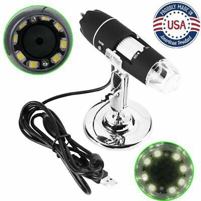 1000x Usb Zoom 8led Microscope Digital Magnifier Endoscope Camera 1080p New