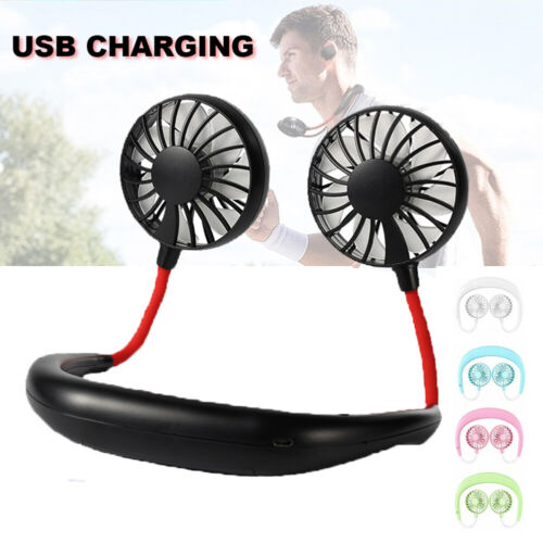 Portable Lazy Hanging Neck Mini Cooling Fan Sports Rest USB Rechargeable Fan Heating, Cooling & Air