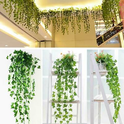 Fake Ivy Leaves (Artificial Ivy Leaf Plants Fake Hanging Garland Plants Vine Foliage Home)