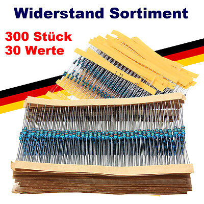 300 Metallfilm Widerstände 30 Werte x 10 Stück Widerstand Sortiment Set