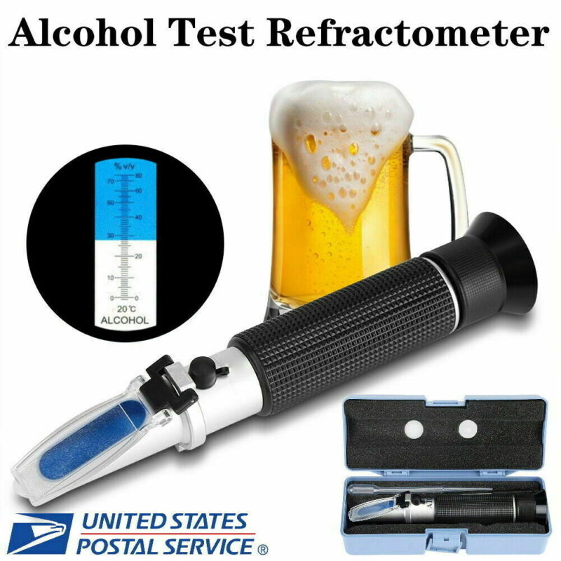 Professional Handheld 0-80%Brix Wine Scale Refractometer Alcohol Meter Test