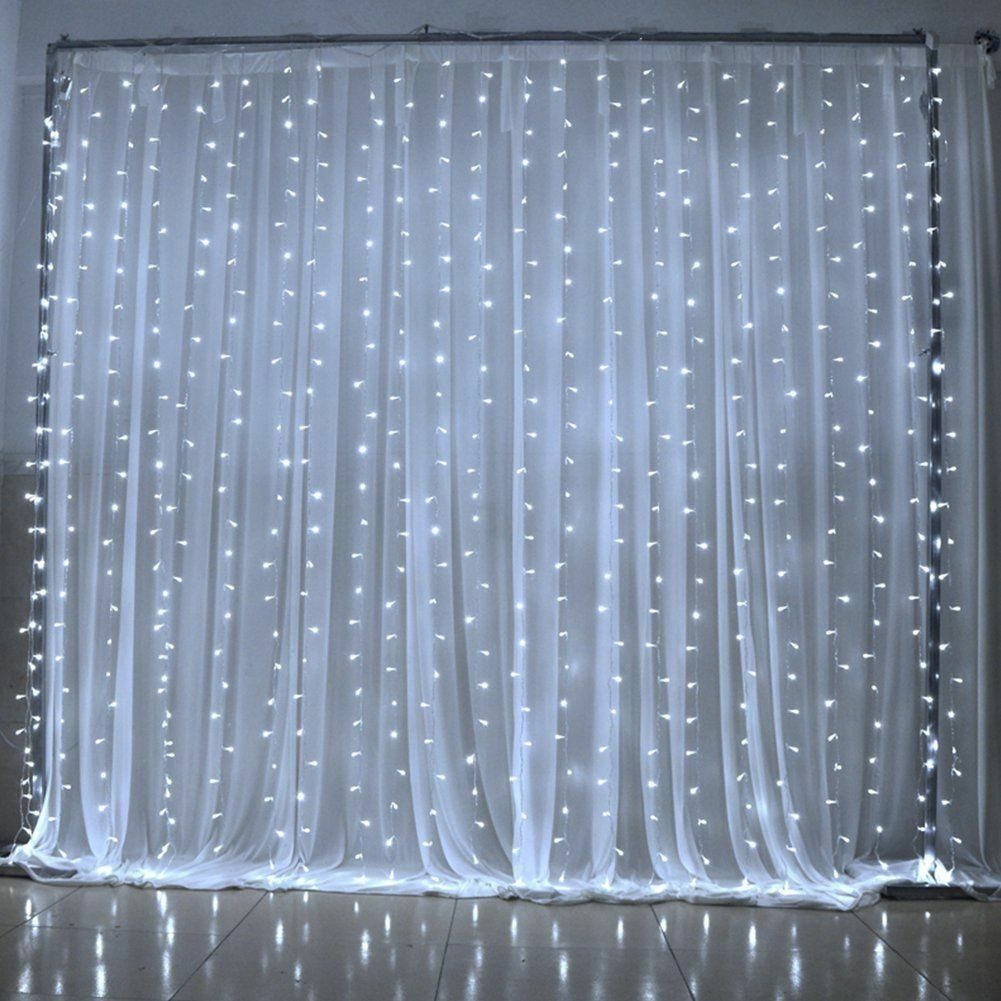 300 LED 3m Fairy Curtain String Lights Wedding Party Room De