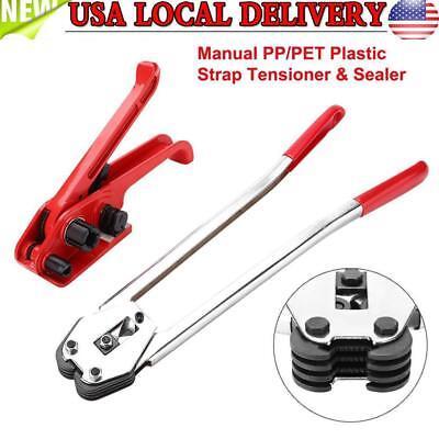 Manual PP/PET Plastic Strap Tensioner & Sealer Hand Strapping Sealing Packing US