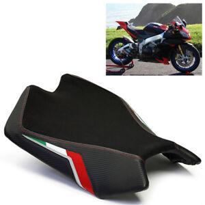 Aprilia RSV4 Seat Cover 2009-2015 2016 2017 2018 Black Red Team Suede Luimoto