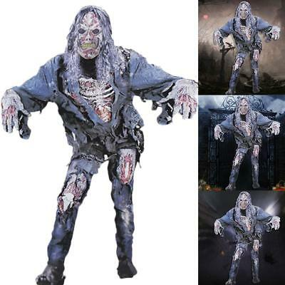 Adult Bloodied Zombie Halloween Costume Walking Horror Dead Suit DIY Decor