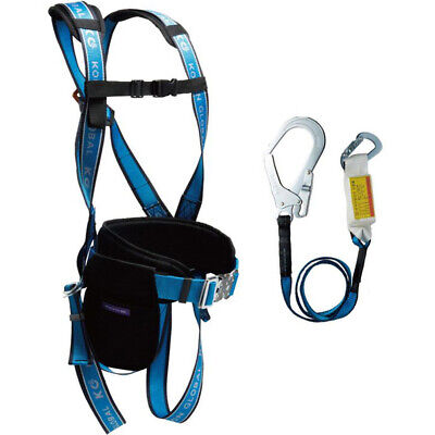 HARPYE Safety Fall Arrest Protection Full Body Harness D-Ring Pad Belt Lanyard