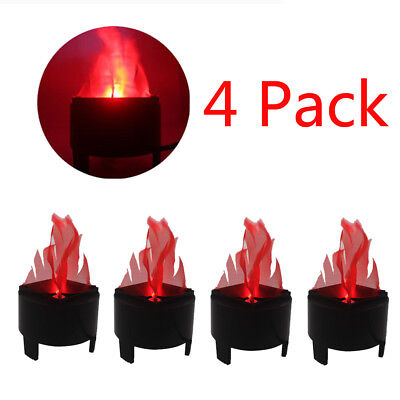4pack LED Flame Fire Light Effect Standing Lamp Fake Flame Light Fire Bowl Decor (Halloween Fake Fire Effect)