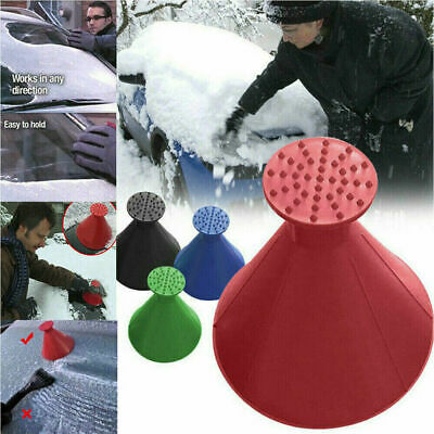 Car Windshield Ice Snow Remover Scraper Tool Cone Shaped Round Funnel -