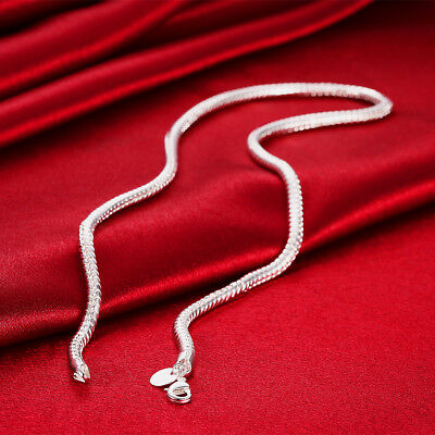 Wholesale Price Silver Snake Chain Men Necklace 4Mm 16   24Inch N191
