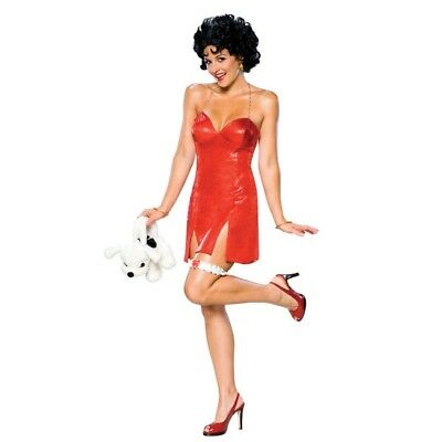 Betty Boop Wigs (Rubies Betty Boop Costume with Red Dress and Wig Womens)