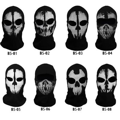 Ghost Balaclava Tactical Headwear Hood Full Face Mask Skull Sports Helmet Liner