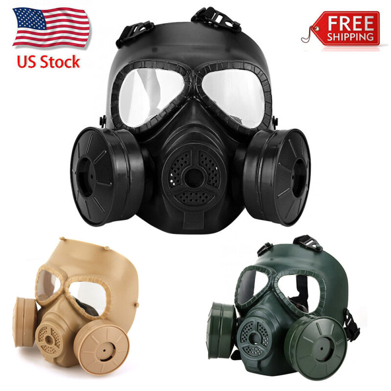 US Double Filter Gas Face Shield Fan CS Edition Perspiration Dust Eye Protector