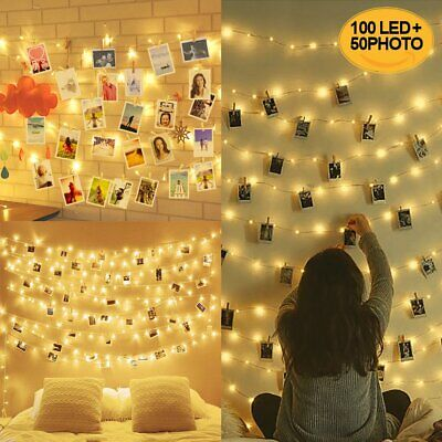10M 100LED Luci per Foto Polaroid, Lucine Led Decorative per Camere, Porta Foto