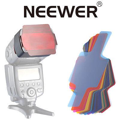 "Neewer Photographic 2.5x5.5 "" 20PC Speedlite Flash Color Gel Lighting Filter Kit"