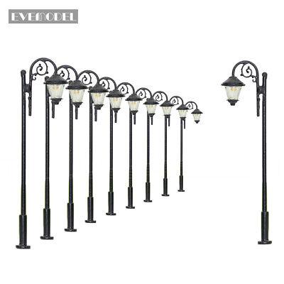 LYM37DE10 Stk. LED Lampen 65mm Spur H0 / 00 Leuchte Straßenlampen NEU