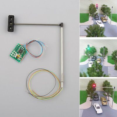 3x HO/OO Traffic Signal LED Light Model Architecture Cross Street Toy Model