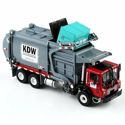 1:24 Scale Diecast Material KDW Transporter Garbage Truck Vehicle Car Model -