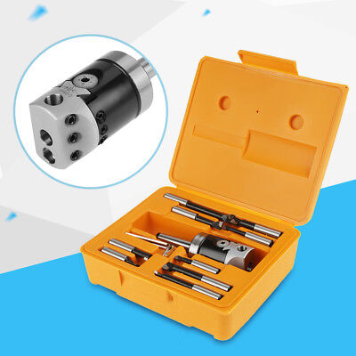 Milling Machine F1-12 Mt2-m10 50mm Boring Head With 9pcs 12mm Boring Bars 1 Set