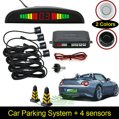 Auto Reverse Parking Sensor hinten 4 Sendeer LCD Display Audio Buzzer Alarm Kit