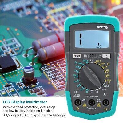Digital Lcr Multimeter Resistance Capacitance Inductance Meter With Test Leads