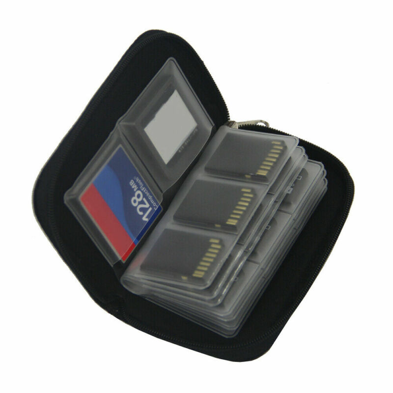 22 Slots Memory Card Case Carrying Card Holder Bag Wallet for SD Cards Storage