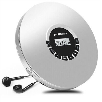White Personal CD Player Best sound for CD MP3 WMA With Earphones (Best Sounding Portable Cd Player)