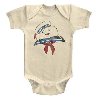 Ghostbusters Stay Puft Marshmallow Man Head Baby Grow Infant Romper Boy Costume