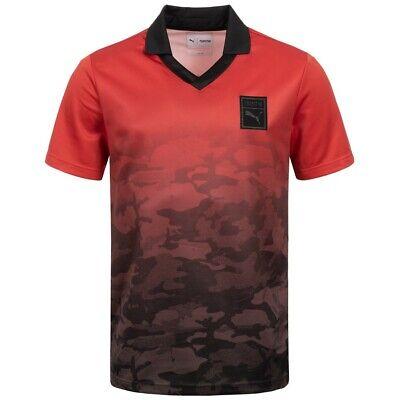 PUMA x Trapstar Football Herren T-Shirt Freizeit Tee Shirt 571821-05 rot neu