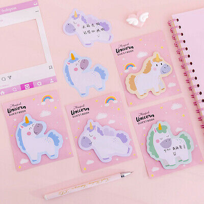 120 Sheet4 Pads Sticky Notes Self-adhesive Notes Notepads Post Writing Unicorn