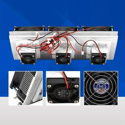 Thermoelectric Peltier Refrigeration Kit Air Cooling Cooler Fan System Heatsink