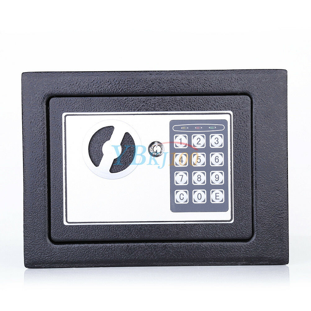 digital safe tresor mit zahlencode notschl ssel led geldbox dokumententresor ebay. Black Bedroom Furniture Sets. Home Design Ideas