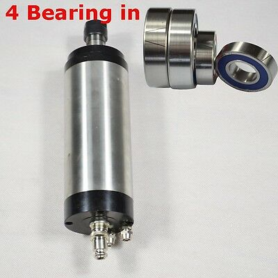 Water-cooled 2.2kw Spindle Motor Diameter 80mm Engraving Mill Grind Four Bearing