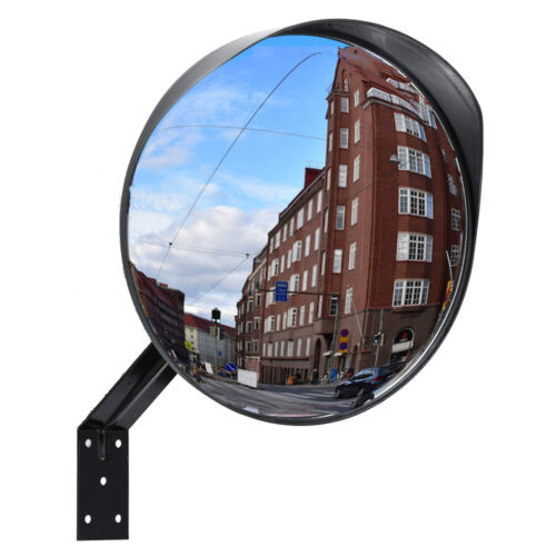 12 Inch Convex Security Mirror Curved Safety Wide Angle Driveway Outdoor Indoor