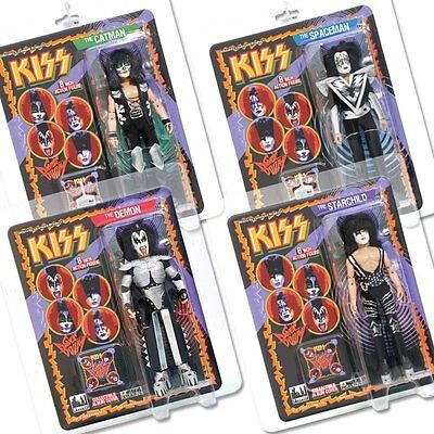 KISS 8 Inch Action Figures Series 3 Sonic Boom Complete Set of all 4