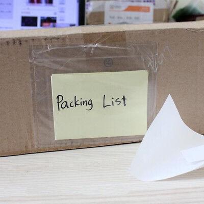 100 Pcs Packing List Pouches 7.5x5.5 Enclosed Invoice Shipping Label Envelopes
