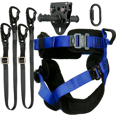 Fusion Tactical Pro Zip Line Kit Harness/2 LanyardCarabinerTrolley FTK-A-HLLCT18