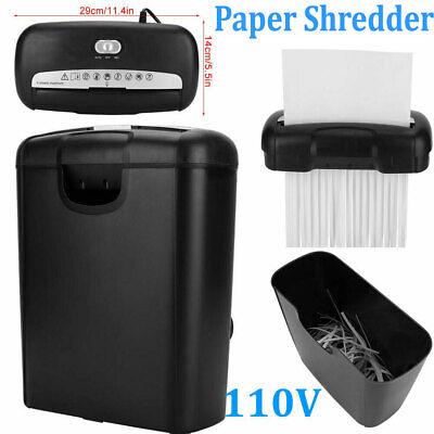 Commercial Home Office Paper Shredder Strip Cut Credit Card Destroy Desktop 180w
