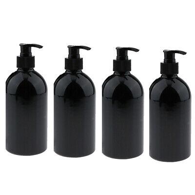 4Pcs 500ml Leere Lotion Pumpflaschen Shampoo Flüssigseifenspender Nachfüllbar