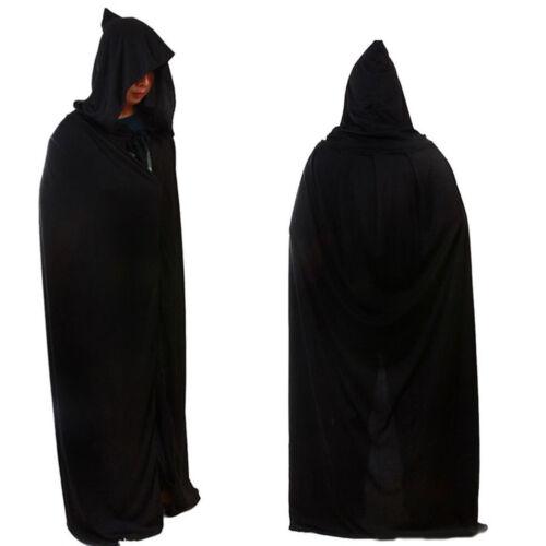 Adult Long Hooded Cape Cloak Coat Fancy Dress Grim Reaper Co