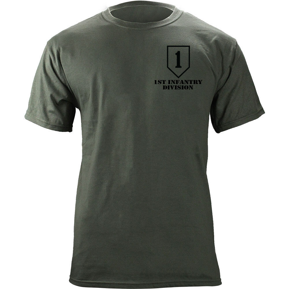 US Army 1st Infantry Division Big Red One Veteran Full Color T-Shirt