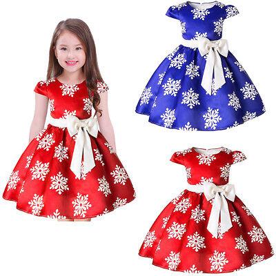 Kinder Mädchen Weihnachtskleid Schneeflocke Tutu Prinzessin Partykleid - Mädchen Schneeflocke Tutu