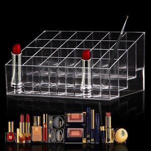 24 compartiments boite acrylique rouge l vres rangement pr sentoir maquillage. Black Bedroom Furniture Sets. Home Design Ideas