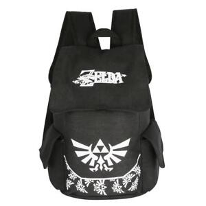 Anime The Legend of Zelda Black Canvas Backpack Rucksack Satchel Bag School  Bag 982f5d553d9c9
